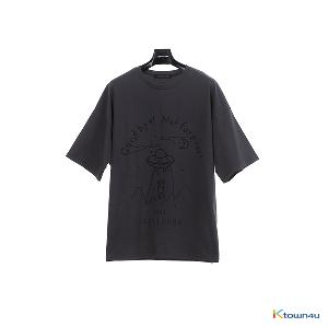 [SKULLHONG] SPACE T-SHIRT CHARCOAL [19SS]