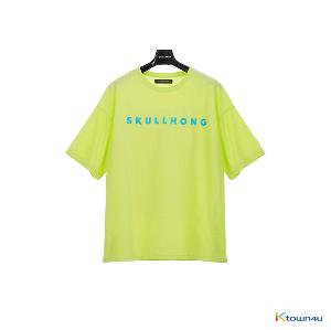 [SKULLHONG] Logo T-Shirt Yellow Green [19SS]
