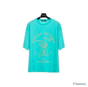 [SKULLHONG] Space T-Shirt BlueGreen [19SS]