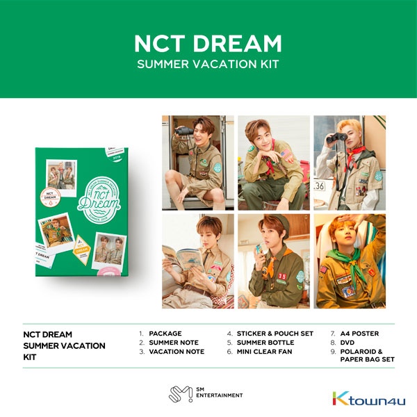 NCT DREAM - 2019 NCT DREAM SUMMER VACATION KIT *Pre-order period from April 26 to May 7 at 24:00 (Ktown4u Preorder benefit : Big Postcard 1p gift)