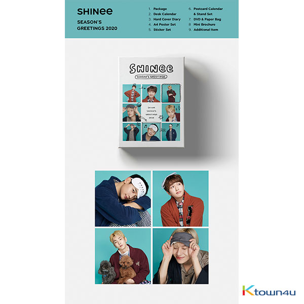 SHINee - 2020 SEASON'S GREETINGS (Only Ktown4u's Special Gift : All Member Photocard set)