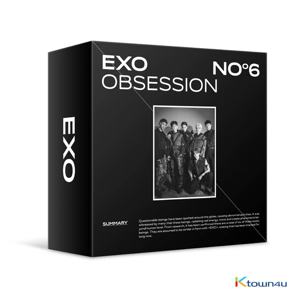 [94 DEGREES] EXO - Album Vol.6 [OBSESSION (OBSESSION Ver.)] (Kit Ver) *Due to the built-in battery of the Khino album, only 1 item could be ordered and shipped to abroad at a time.