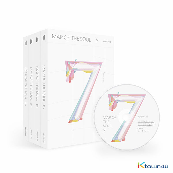[SET][4CD SET] BTS - Album [MAP OF THE SOUL : 7] (Ver. 1 + Ver. 2 + Ver. 3 +Ver. 4)