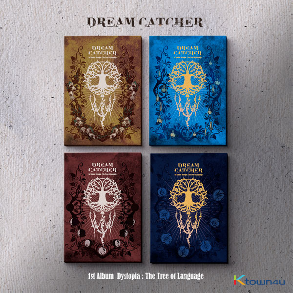 [SET][4CD SET] DREAMCATCHER  - Album Vol.1 [Dystopia : The Tree of Language] (E Ver. + V Ver. + I Ver. + L Ver.) *Ktown4u Pre-order benefit : Photocard 8ea 4set (limited quantity Until sold out)