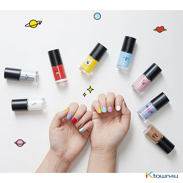 [BT21] Various Colors of BT21 Nail Polish (Fancy Nail Sticker for a gift)