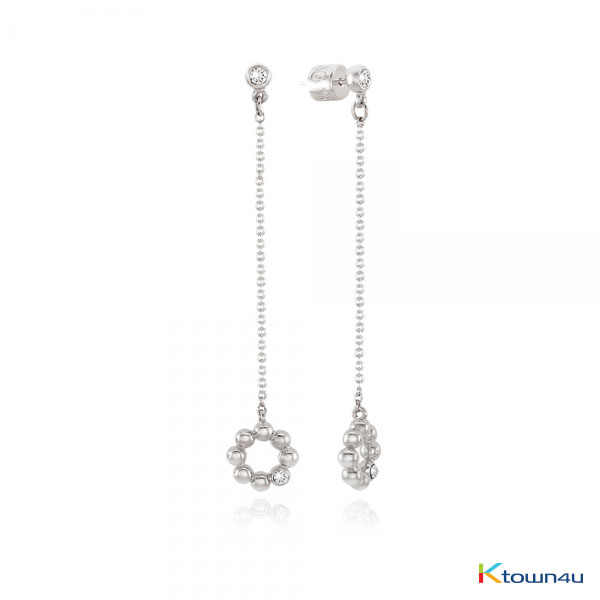 [RITA MONICA] BUBBLE DONUT Drop Earrings (WHITE GOLD)