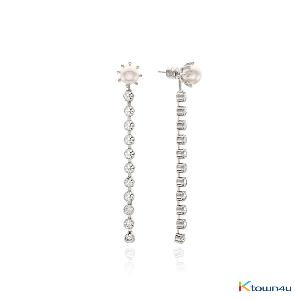 GLAM 2WAY Earrings (WHITE GOLD)