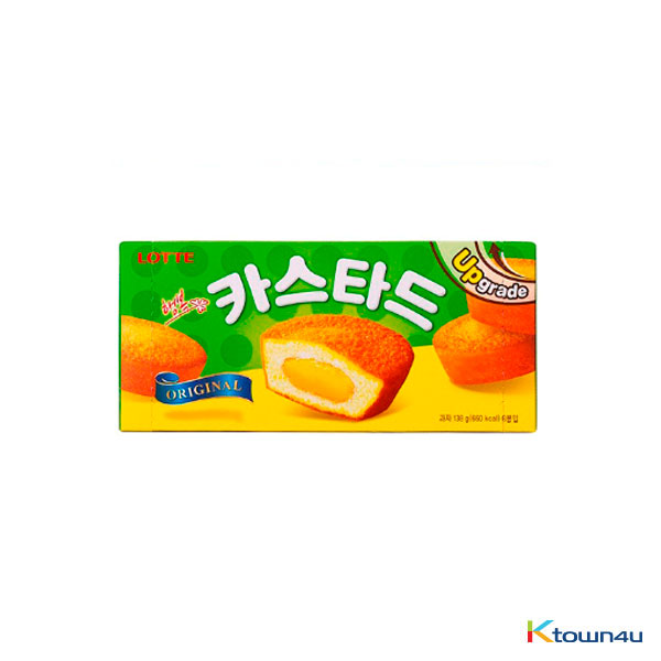 [LOTTE] Custard Cream Cake Original 138g*1BOX (1BOX=6EA)