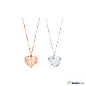 [KIND] BLACKPINK - HEART LOGO SILVER NECKLACE