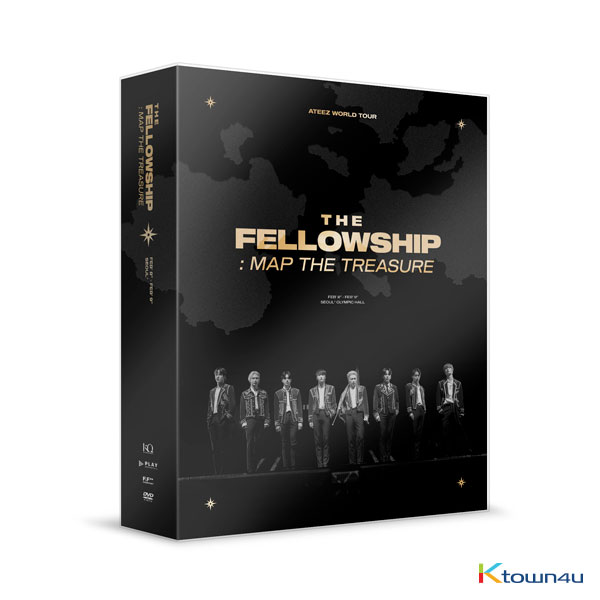 [@AteezTurkeey] [DVD] ATEEZ - ATEEZ WORLD TOUR [THE FELLOWSHIP : MAP THE TREASURE SEOUL DVD]
