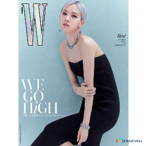 W KOREA 2020.10 D Type (Cover : BLACKPINK ROSE / Content : TAEYEON 10p)