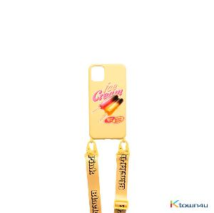 [ICECREAM] BLACKPINK - LANYARD PHONECASE_ICECREAM BAR_YELLOW