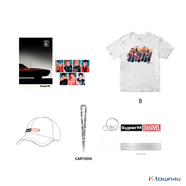 SuperM - SuperM X MARVEL SPECIAL PACKAGE 1 (T-SHIRT C / SIZE S)