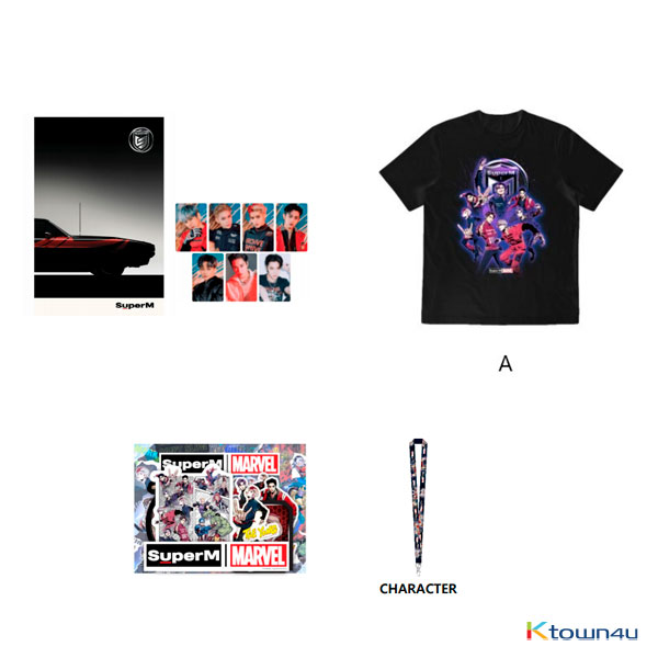 SuperM - SuperM X MARVEL SPECIAL PACKAGE 3 (T-SHIRT A / SIZE L)
