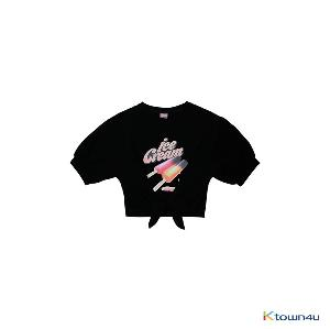 [ICECREAM] BLACKPINK - T-SHIRTS_TIE-UP_ICECREAM BAR_BLACK