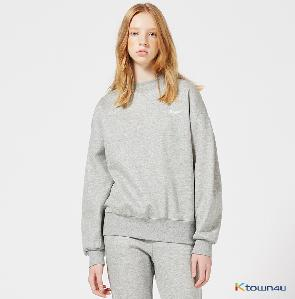 [Between A and B] THREE FLOWERS SWEATSHIRT_GRAY