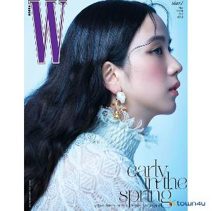 W KOREA 2021.02 A Type (Cover : BLACKPINK JISOO)