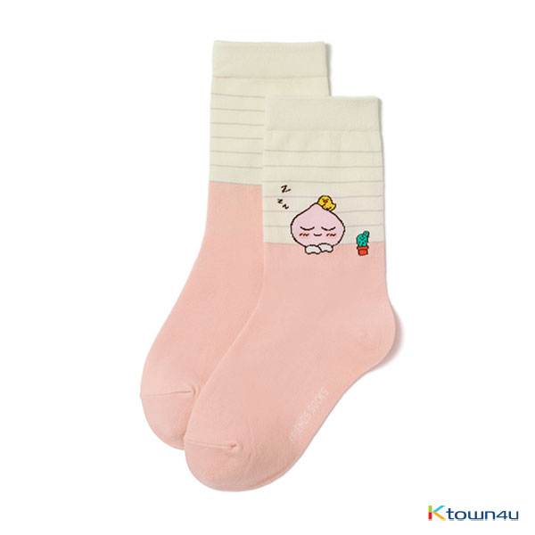 [KAKAO FRIENDS] Medium Socks (unisex) (Pink Apeach)