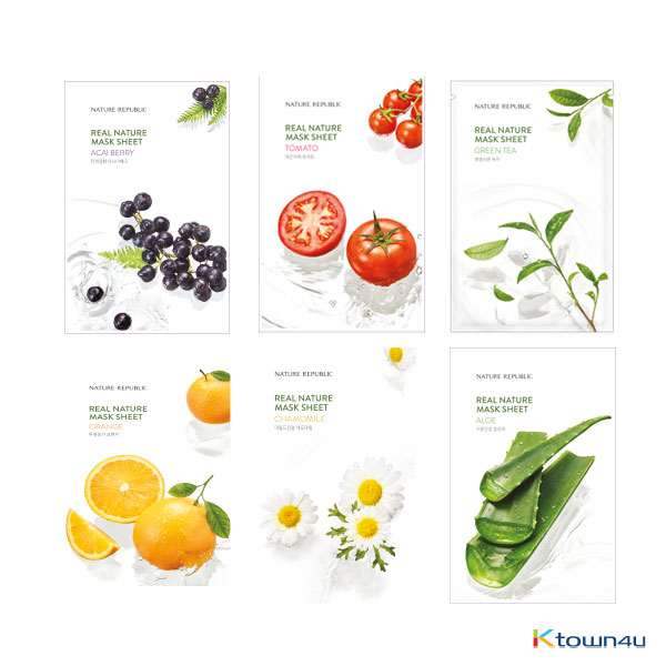 [NATURE REPUBLIC] REAL NATURE MASK SHEET® 10type