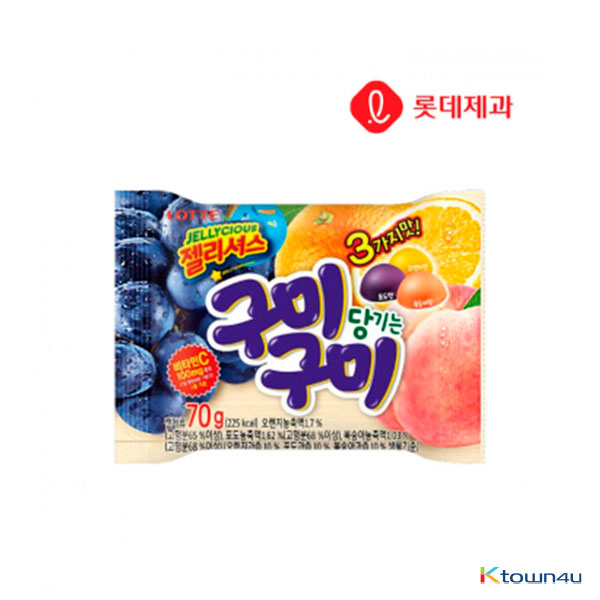[LOTTE] Gumi Gumi Jelly Mix Flavour 70g*1EA