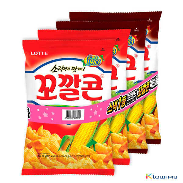 [LOTTE] Popping Corn 4 Bundle (Savory flavor, Baked Corn flavor) Big Size 168g*1SET(4EA)