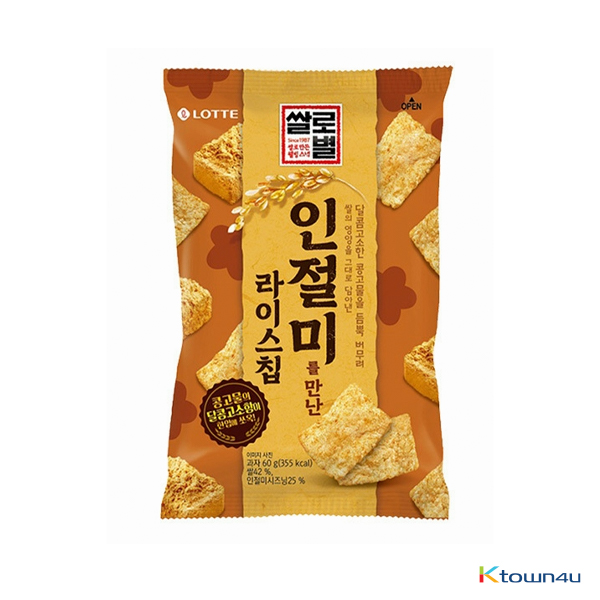 [LOTTE] Rice Star Rice Chip which met Injeolmi Small Size*1EA