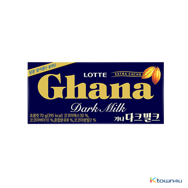 [LOTTE] Ghana Dark Milk Chocolate 70g*1EA