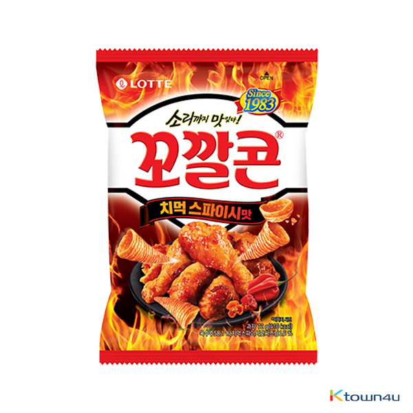 [LOTTE] Popping Corn Chips Chimeok Spicy Chicken Flavour Small Size 72g*1EA