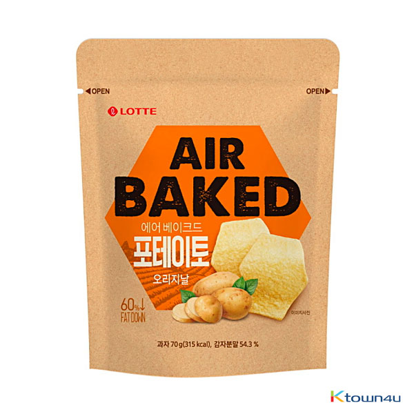 [LOTTE] Air Baked Potato Chips Small Size 70g*1EA