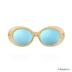 [[hybition] Roswell Origin sunglassal_Glossy Yellow/Blue Mirror Lens