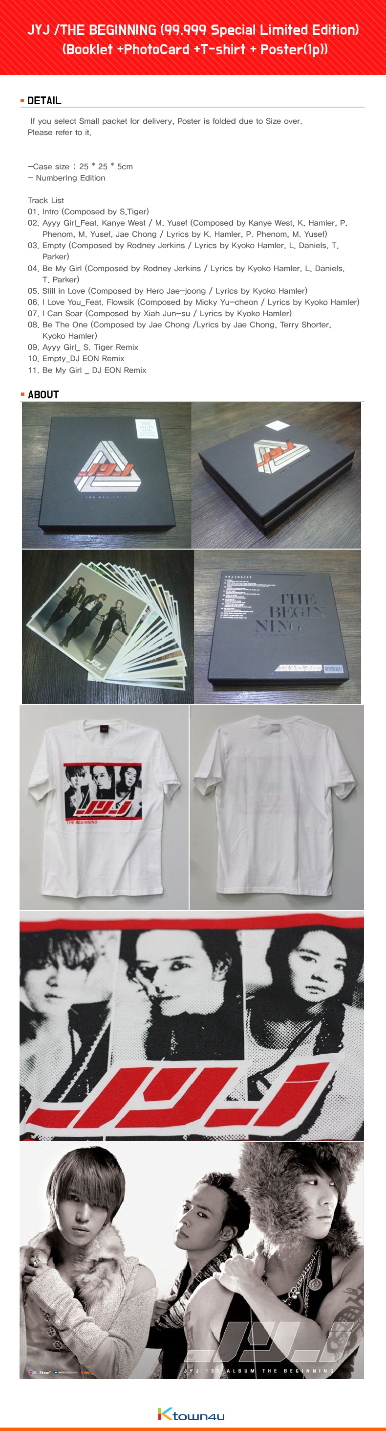 JYJ /THE BEGINNING (99,999 Special Limited Edition) (T-shirts included, Poster all sold out)