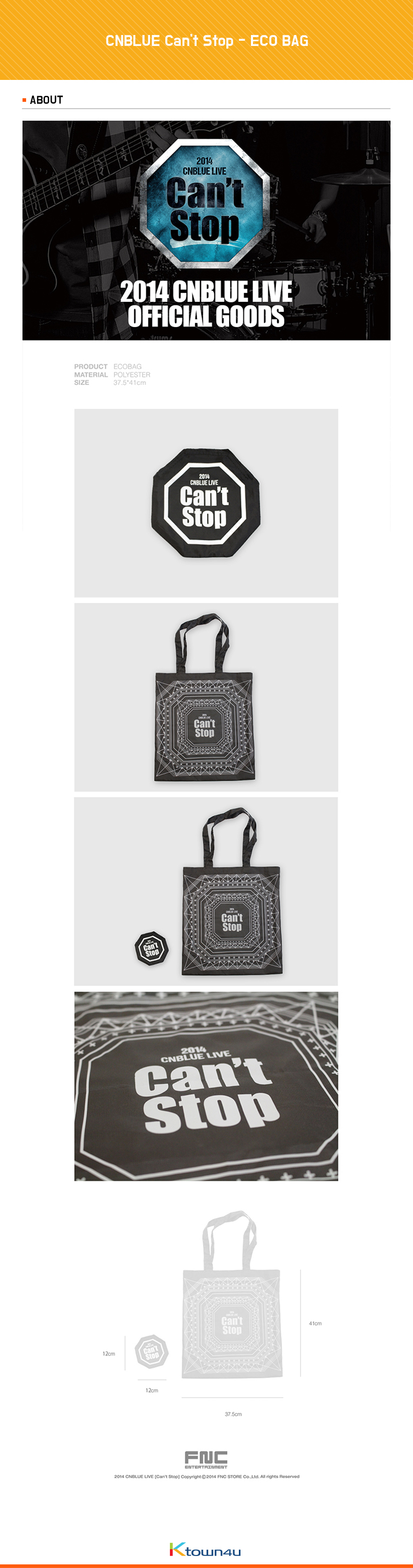 CNBLUE Can`t Stop - ECO BAG