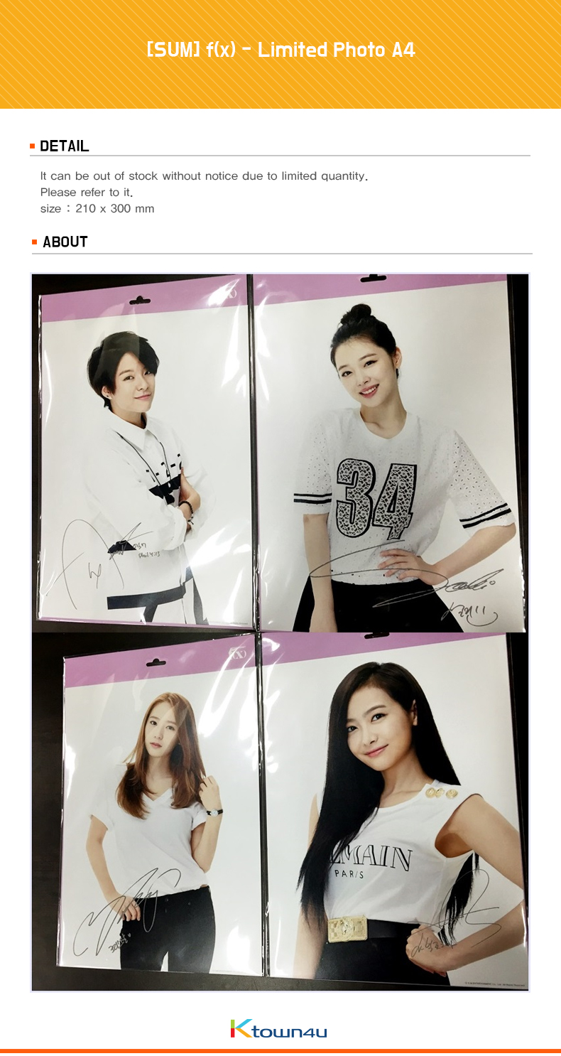[SUM] f(x) - Limited Photo A4