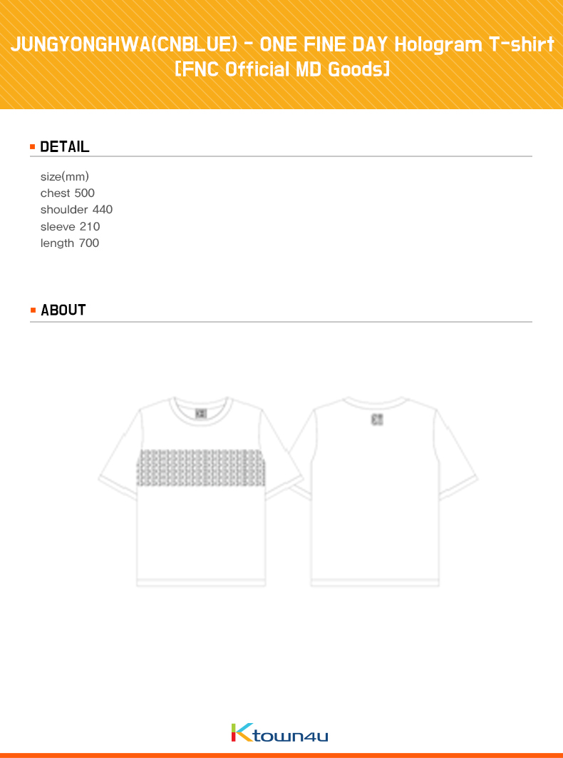 JUNGYONGHWA(CNBLUE) - ONE FINE DAY Hologram T-shirt [FNC Official MD Goods]