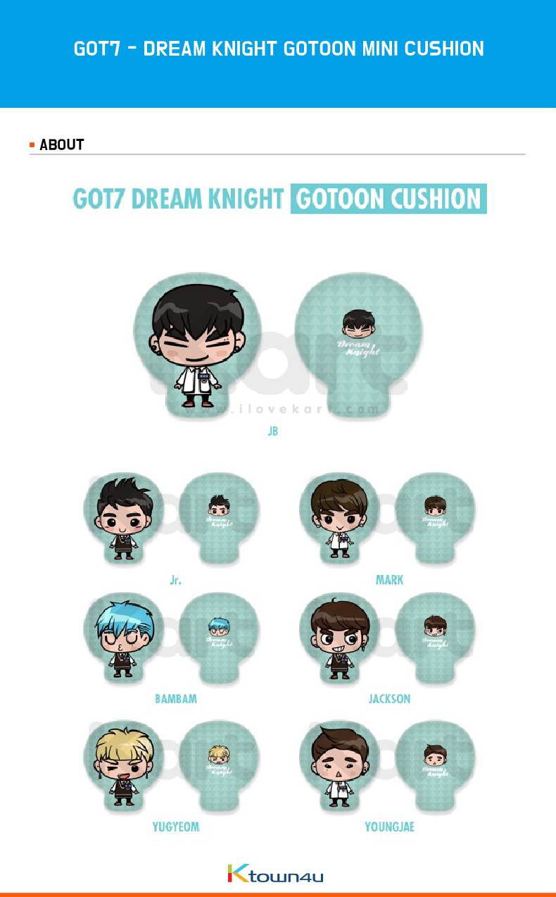 GOT7 - DREAM KNIGHT GOTOON MINI CUSHION