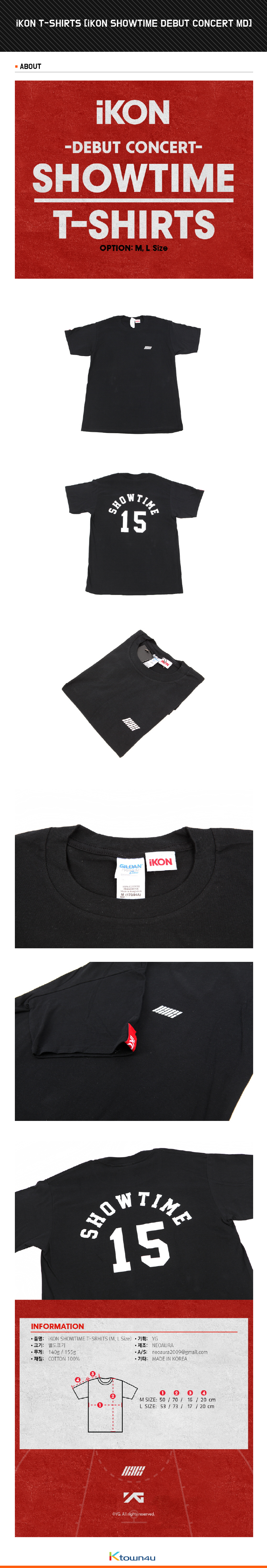 iKON - T-SHIRTS [iKON SHOWTIME DEBUT CONCERT MD]