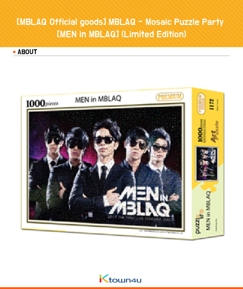 [MBLAQ Official goods] MBLAQ - Mosaic Puzzle Party [MEN in MBLAQ] (Limited Edition)
