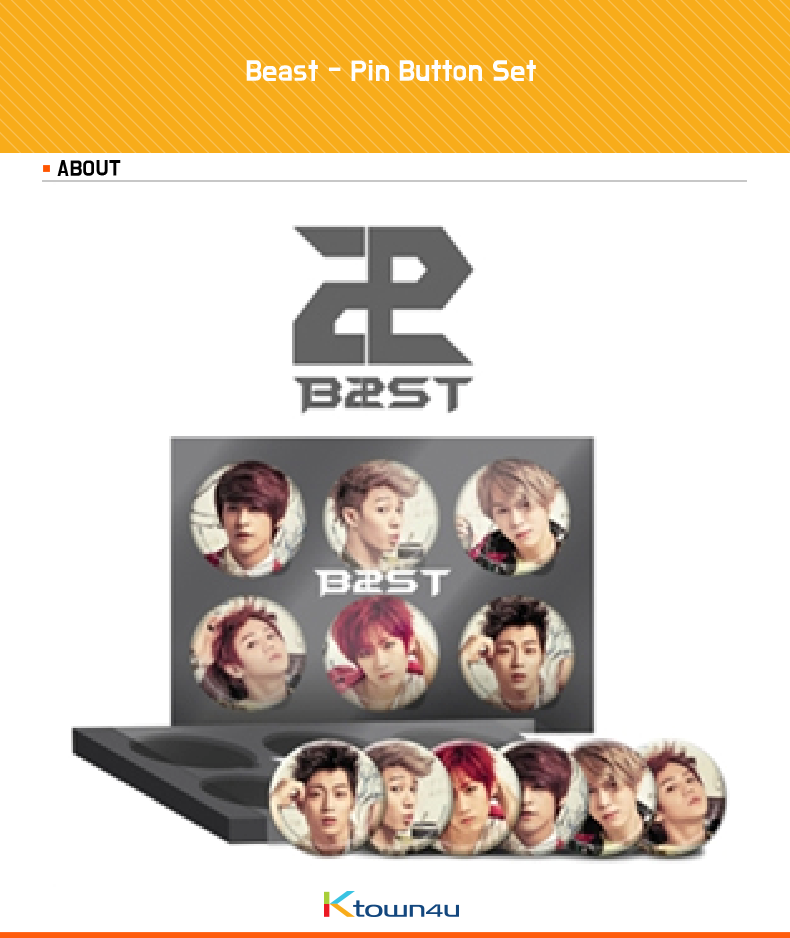 [Loen Official Goods] Beast - Pin Button Set