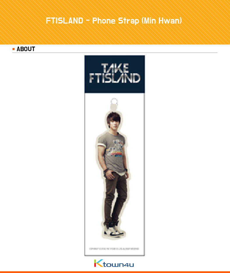 [FNC Official MD Goods] FTISLAND - Phone Strap (Min Hwan)