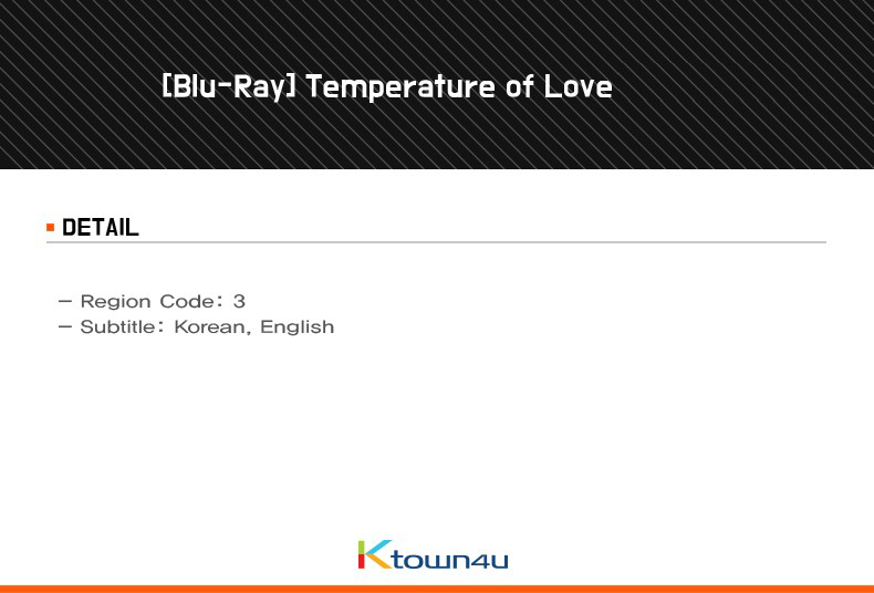 [Blu-Ray] Temperature of Love (2DISC)