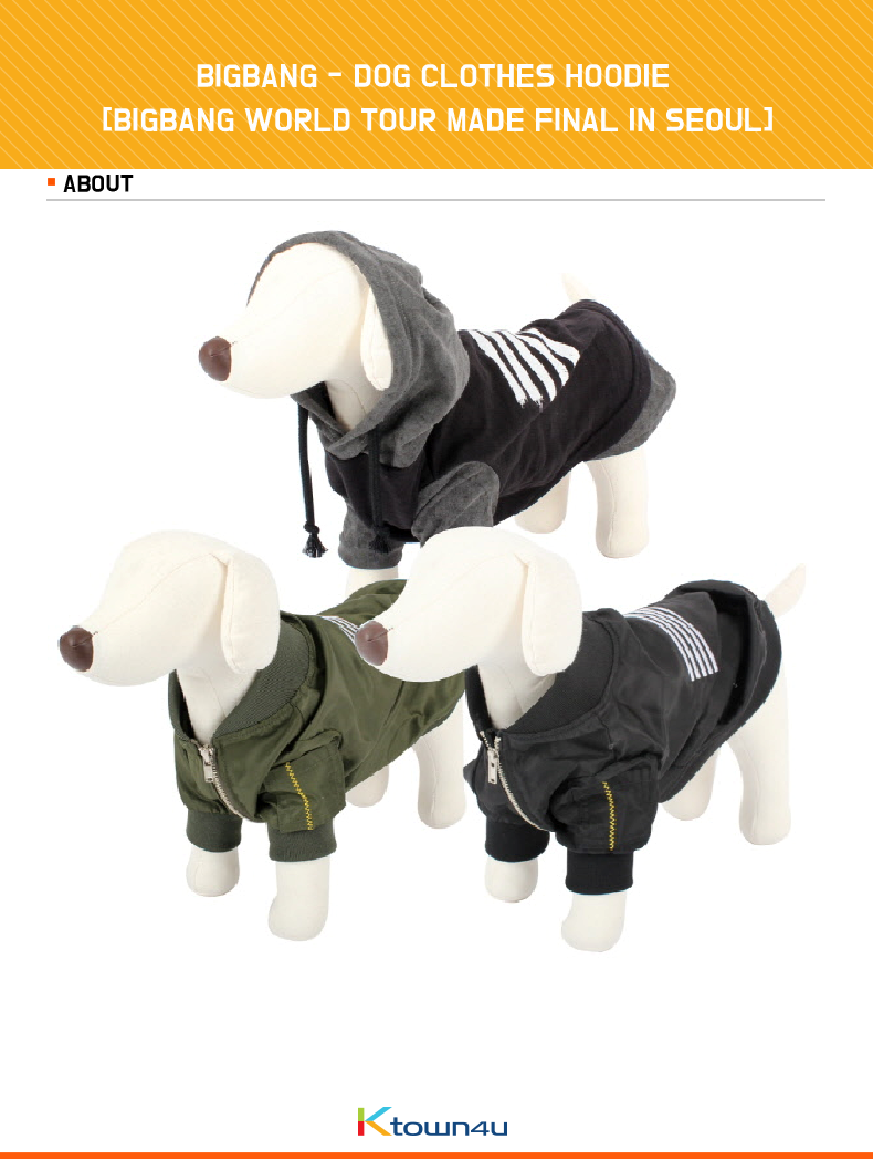 BIGBANG - DOG CLOTHES HOODIE [BIGBANG WORLD TOUR MADE FINAL IN SEOUL]