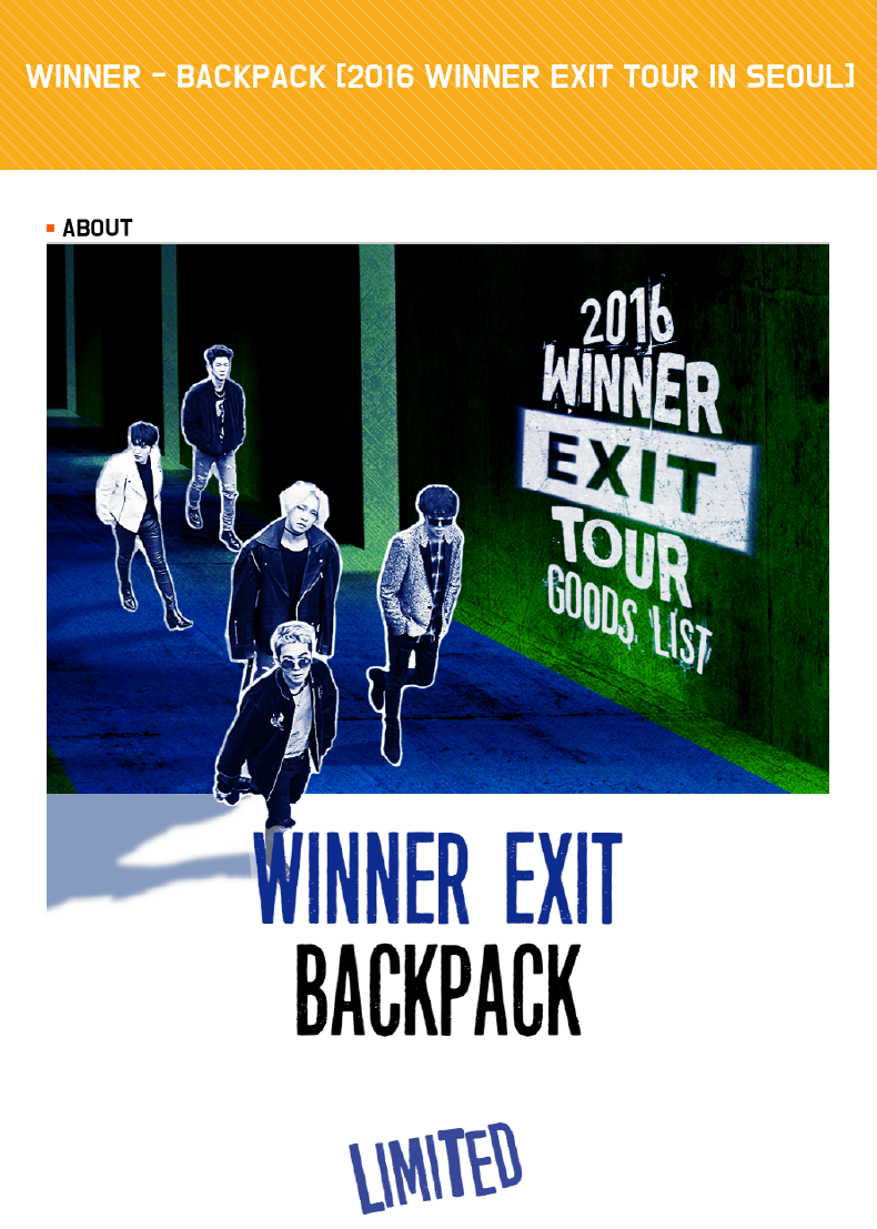 WINNER - BACKPACK [2016 WINNER EXIT TOUR IN SEOUL]