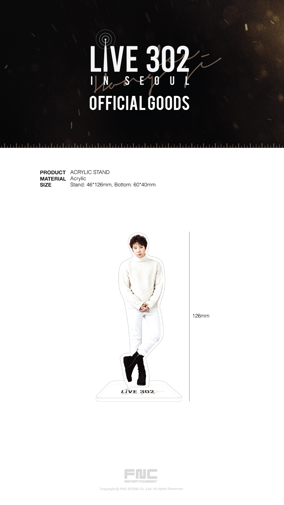 Lee Hong Gi (FTISLAND) - Lee Hong Gi LIVE 302 ACRYLIC STAND