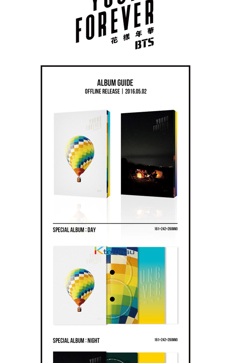 BTS -SPECIAL ALBUM [YOUNG FOREVER] DAY VER.