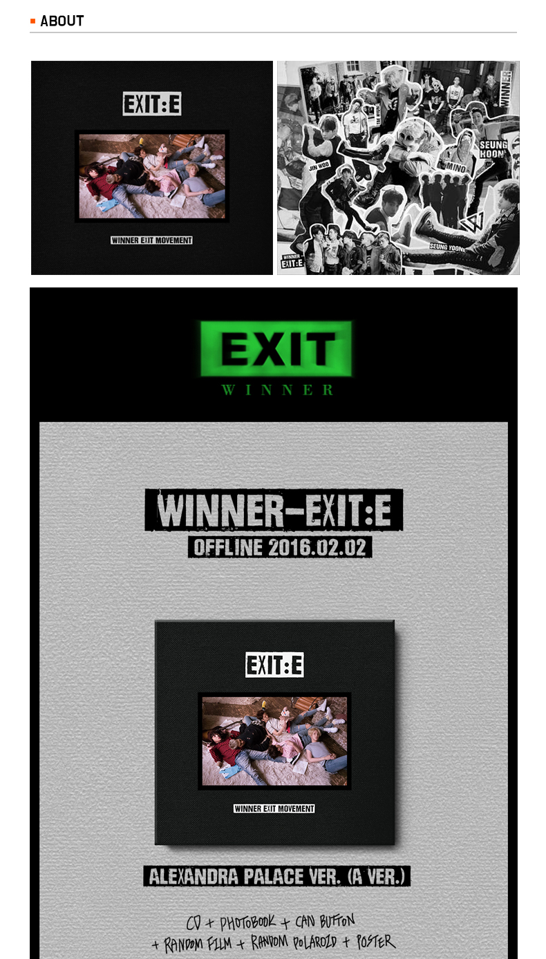 WINNER  - Mini Album Vol.1 [EXIT : E] (Random ver.)