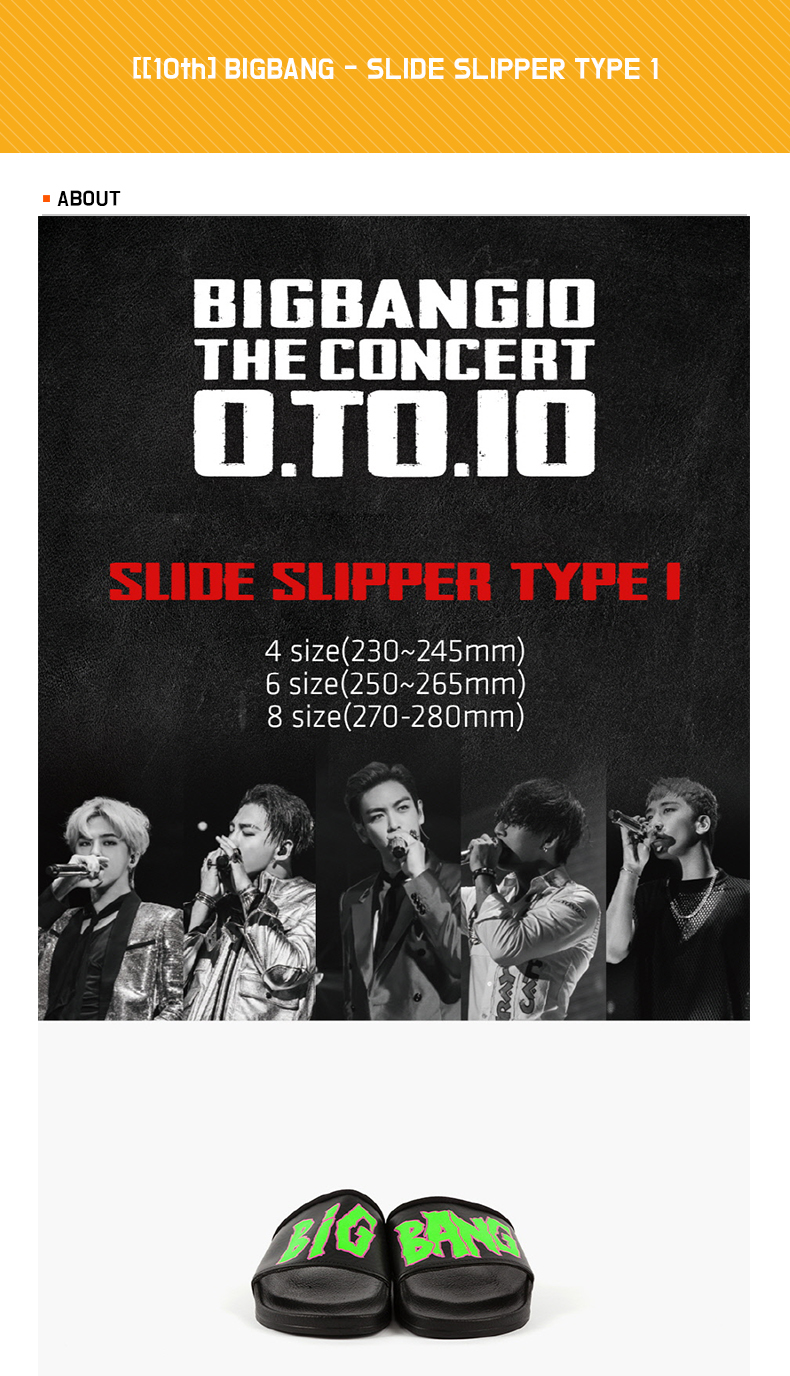 [10th] BIGBANG - SLIDE SLIPPER TYPE 1