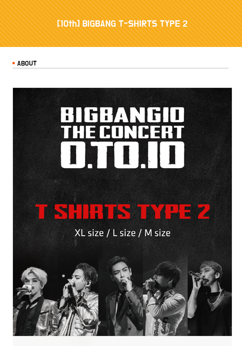 [10th] BIGBANG - T-SHIRTS TYPE 2