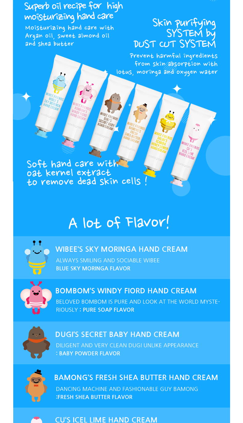[costagram] WIBEE FRIENDS HYDRATING HAND CREAM (Set)