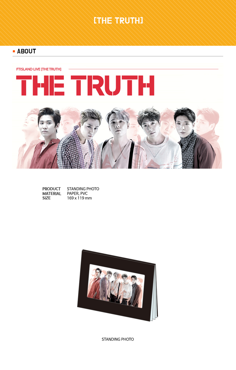 FTISLAND - STANDING PHOTO [THE TRUTH]