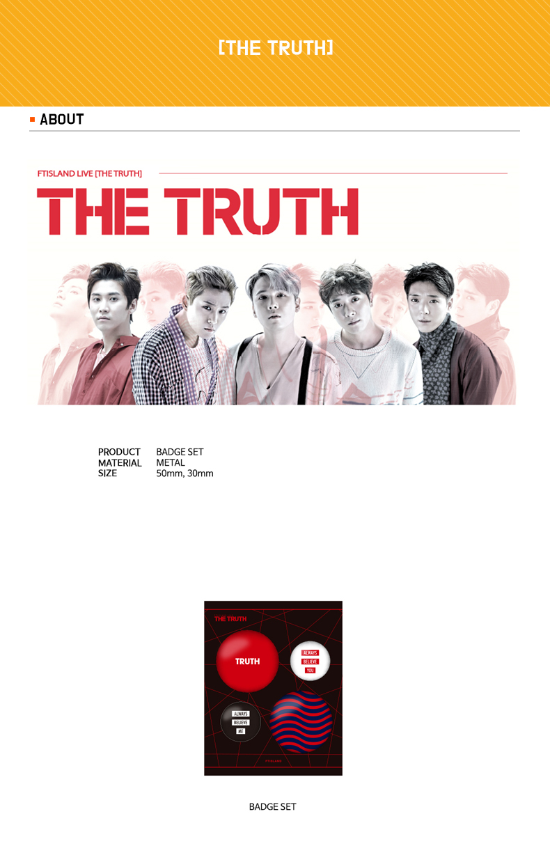 FTISLAND - BADGE SET [THE TRUTH]